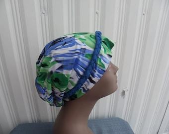 Hair Loss Turban,Chemo Hat,Multi colored Turban,Turban,Green Turban, Slouch Hat, Fashion Hat, Stretchy Slouch Hat, Multi Colored Hat