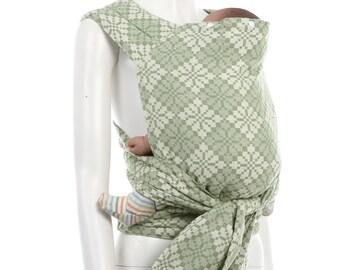 Meh Dai (Mei Tai) - Daiesu Manggis Jade - Meh Dai Baby Carrier - Woven Baby Wrap - Mei Tai Baby Carrier - Wrap Conversion Meh Dai