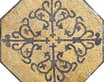 Geometric Octagon Pattern - Lilla    