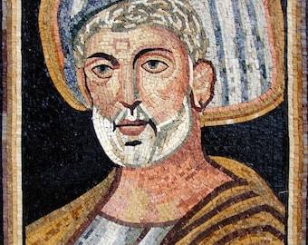 Marble Mosaic Art- Wise Man