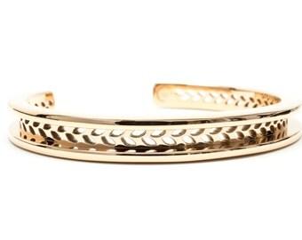 Hair Tie Bracelet, Hair Tie Bracelet Holder, Hair Tie Bracelet Cuff  - Laurel Design Rose Gold