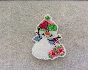 Mitten Snowman Feltie, Alwasy Precut
