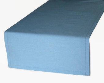 Solid Blue Table Runner In 4 Color Options, Blue Cloth Table Runner, Dark  Navy