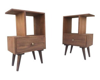 Mid Century Compact Night Stands