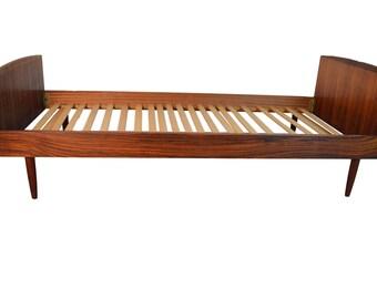 midcentury danish rosewood small bed