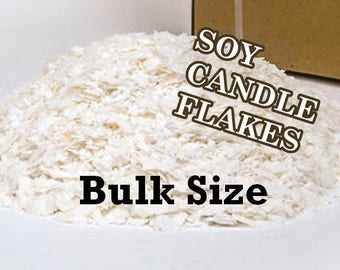 9 lbs. SOY CANDLE WAX - Pure Soy Flakes, Golden 444 - Fast Shipping! U S A grown soybeans!
