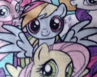 My little pony fleece tie blanket 54 x 58