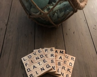 Scrabble Coasters - Customize with your own occasion or themes
