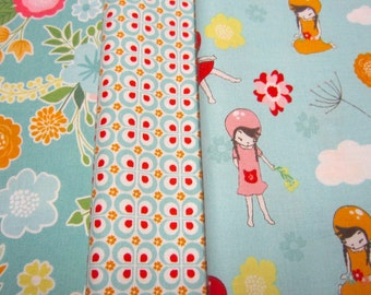 Coordinating Fabric Set Called Wistful Winds Designed by Doohikey for Riley Blake Designs