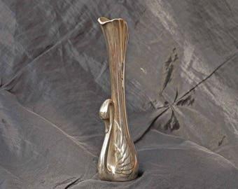 Small Elegant Swan Bud vase