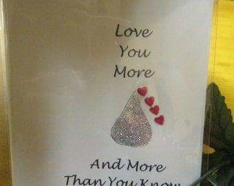 Love you More And More Than You Know Blank Love Card Greeting Card