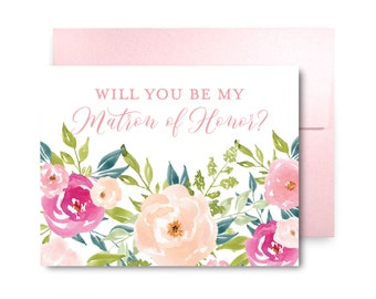 Will You Be My Bridesmaid Card, Bridesmaid Cards, Ask Bridesmaid, Bridesmaid Maid of Honor Gift, Matron of Honor, Flower Girl #CL282