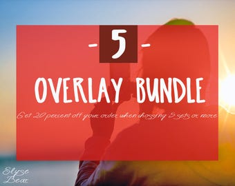 Create your own Bundle - Any 5 Overlays Pack - Beneficial Custom Set - 20 off SALE deal - Special offer discount