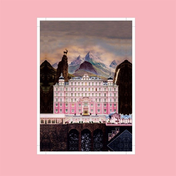 The Grand Budapest Hotel Poster |Mirror Wrap HP Professional Rolled Canvas