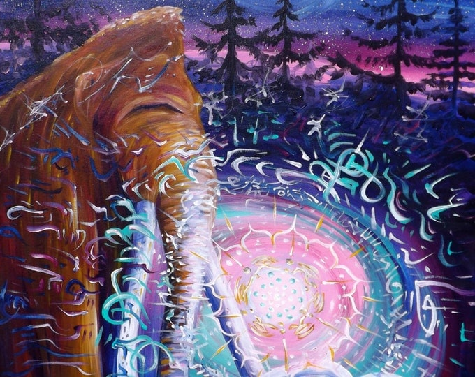 "Giclee Canvas Print *embellished - ""Mammoth Magic"""