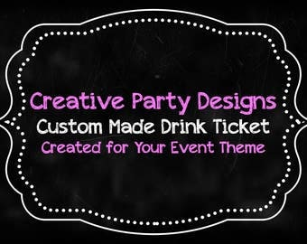 Drink Tickets - Custom Printable PDF - Drink Voucher - Engagement Party Drink Tickets - DIY