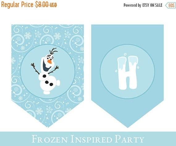 Frozen Birthday Banner Printable Frozen Banner Party By: Frozen Birthday Banner // Frozen Banner // By SugarPickleParty