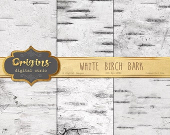 White Birch Bark Digital Paper - Birch Tree Backgrounds, White Wood Textures, Wedding Paper, Wedding Backgrounds, digital Scrapbook paper