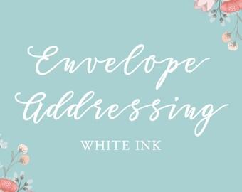Envelope Addressing - Digital Printed Envelopes - White Ink