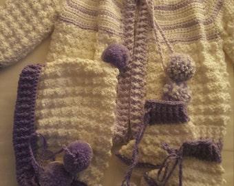 Girls crochet sweater sz 6-12mons