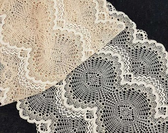 Beige Stretch lace by the meter