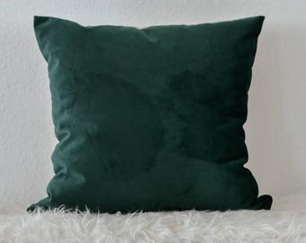 Decorative Pillow, Emerald Green Velvet Pillow, Green Velvet Pillow Cover