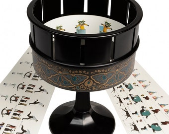 Zoetrope Animation seen in film The Woman In Black | Traditional Classic Toy | Brown Or Black Colour Choice
