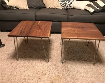 Hardwood End Table Set