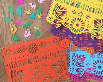 Mexican Fiesta Decoration, First Fiesta, Papel Picado, Banner, Fiesta Birthday, Wedding Decorations, Cinco de Mayo, Rehearsal Dinner