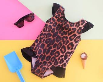 Leopard Mini Swimsuit - Newborn - 12 years Bathing suit Kids Beach Holiday Swimwear Bikini