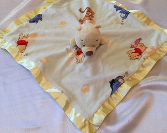 Disney Baby Winnie the Pooh Lovey Security and Snuggle Blanket with Monogrammed