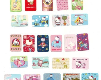 Vintage Cute Hello Kitty Sanrio 24 pieces Stickers Flake