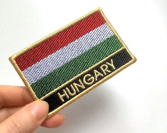 Hungary Embroidered Flag Patch