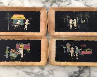 The Romance of Fifi and Pepe -complete set of 4 trays by Kentley