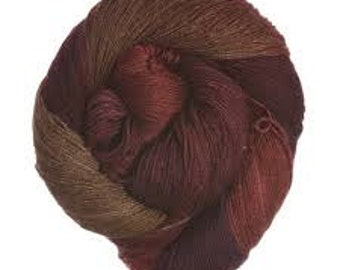 20% OFF, Rowan Fine Art Yarn, Wool/Silk/Mohair, Fingerling, Hand Painted, color - Waxwing,  437 yds