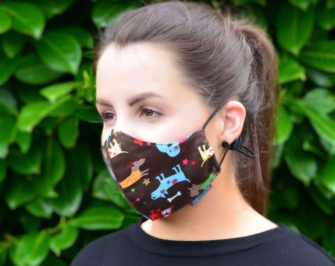 MASKERAID Dogs Life Reusable Cotton Face Mask