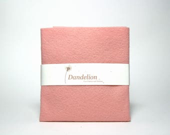 "1 Piece of Pink Pearl Wool Blend Felt 22.8cm x 30.4cm (9"" x 12"")"