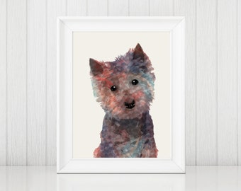 West Highland White Terrier Watercolor Print, Westie Art, Westie,  Dog Silhouette Art, Watercolor Dog, Westie Gift, Westie Dog, Dog Art
