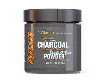 Natural Whitening Tooth & Gum Powder with Activated Charcoal, 2.75oz - Cinnamint