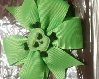 Green Skull Hairbow