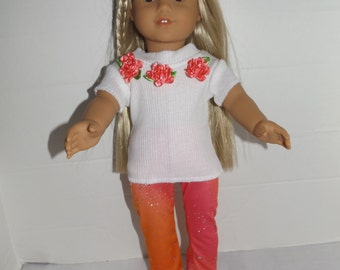 "For 18"" dolls such as American Girl Doll Clothes  3 Piece Set"