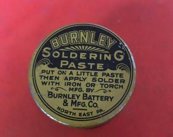 Burnley Soldering Paste Tin Still Full