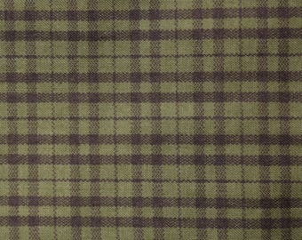 Quilt Fabric Quilting Fabric Cotton Calico Green Plaid by Cranston: Fat Quarters or Cut-to-Order