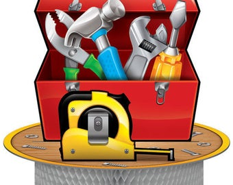 My Happy Handyman Party Centerpiece  / Construction theme / Tools / Handyman / tools party