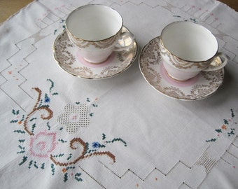 Embroidered Tray Cloths, Doilies, Hand-Made,Cushion Front, Crafts French Tablecloth, Centrepiece