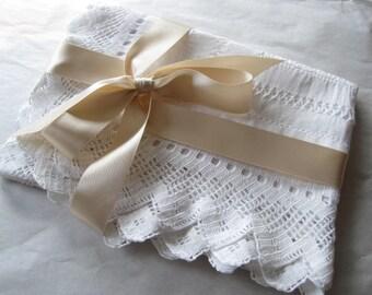 A Beautiful Victorian Tablecloth Drawn Thread Work, Hand Made, Downton Abbey