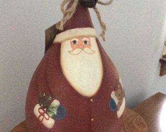 Country red santa gourd