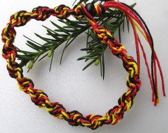 Red, Black, Yellow, Hemp Necklace, Hemp Bracelet, Hemp Anklet, Hemp, Unisex, Hemp Jewelry