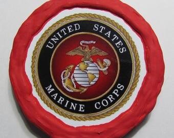 NEW!!! - U.S. Marines Seal Magnet - Multi-Colored - Refrigerator Magnet