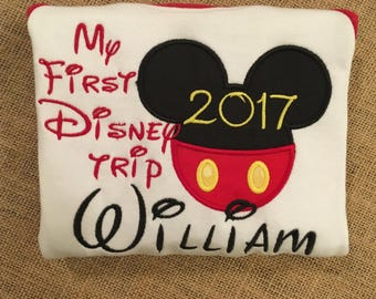 My first Disney Trip Mouse ears bodysuit or toddler shirt